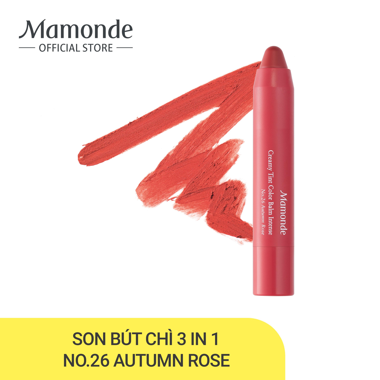 Son bút chì 3 in 1 cho bờ môi mềm mượt Mamonde Creamy Tint Color Balm Intense 2.5g