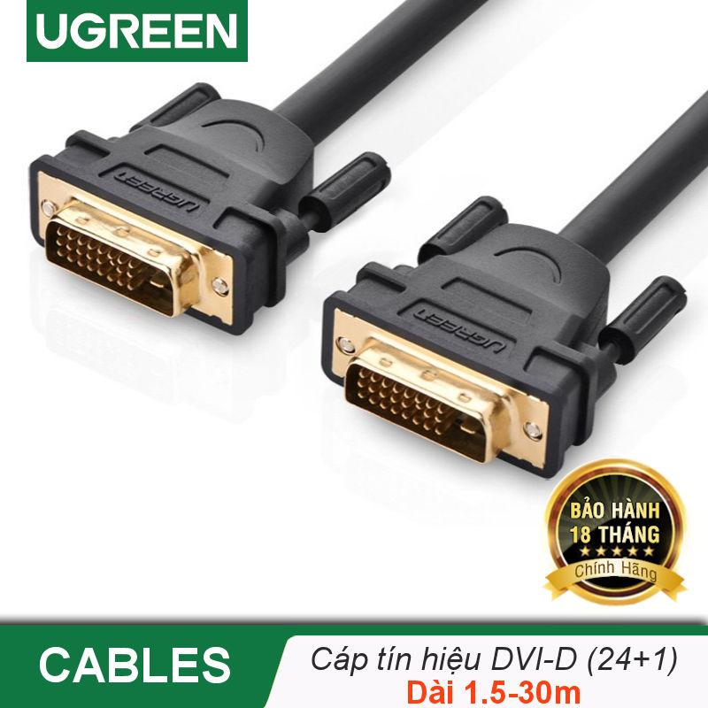 Cáp tín hiệu DVI-D (24+1) 2 đầu đực dài từ 1-30m UGREEN DV101