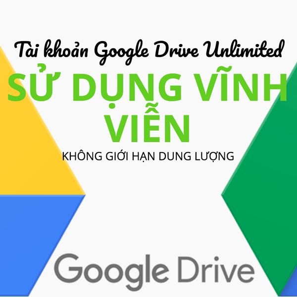 Tài khoản Google Drive Unlimited được chọn username tặng Onedrive 5TB