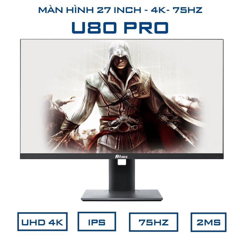 [Trả góp 0%]Màn hình máy tính Gaming 27 inch 4K ATAS U80 Pro - Tấm nền IPS - Bảo hành 1 năm