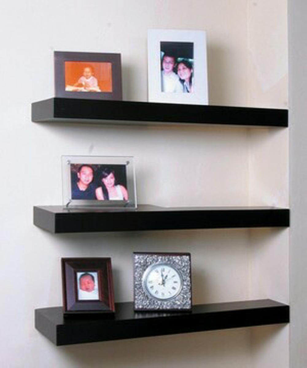 Kệ trang trí treo tường màu đen KT 60cm x 15cm gỗ LÕI XANH CHỐNG ẨM