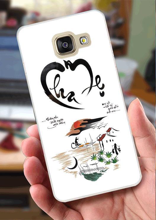 Ốp Lưng Samsung A3 (2016) (dẻo viền trắng trong) - Công Ơn Cha Mẹ