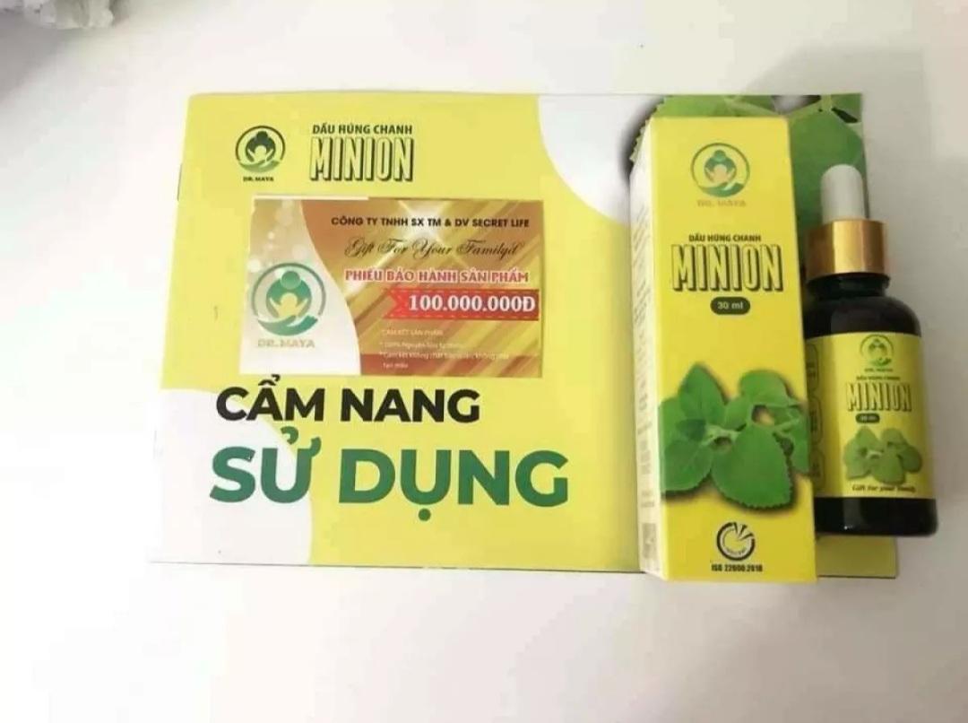 Dầu Húng Chanh Minion - Chính hãng - Mẫu mới nhất 7