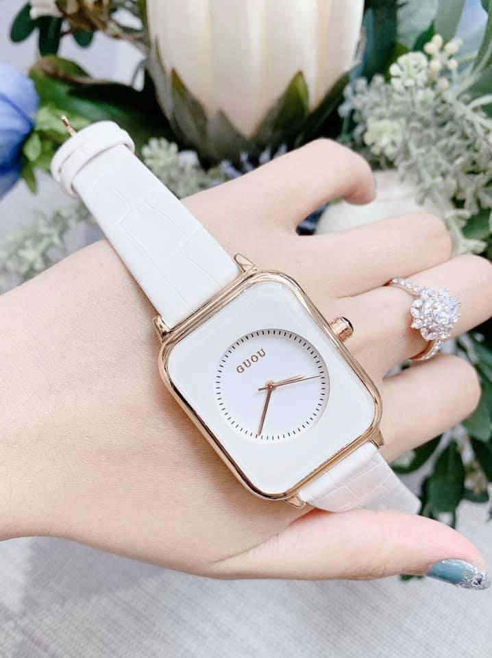 Đồng hồ Nữ GUOU Dây Mềm Mại đeo rất êm tay, Chống Nước Tốt, Bảo Hành Máy 12 Tháng Toàn Quốc 21