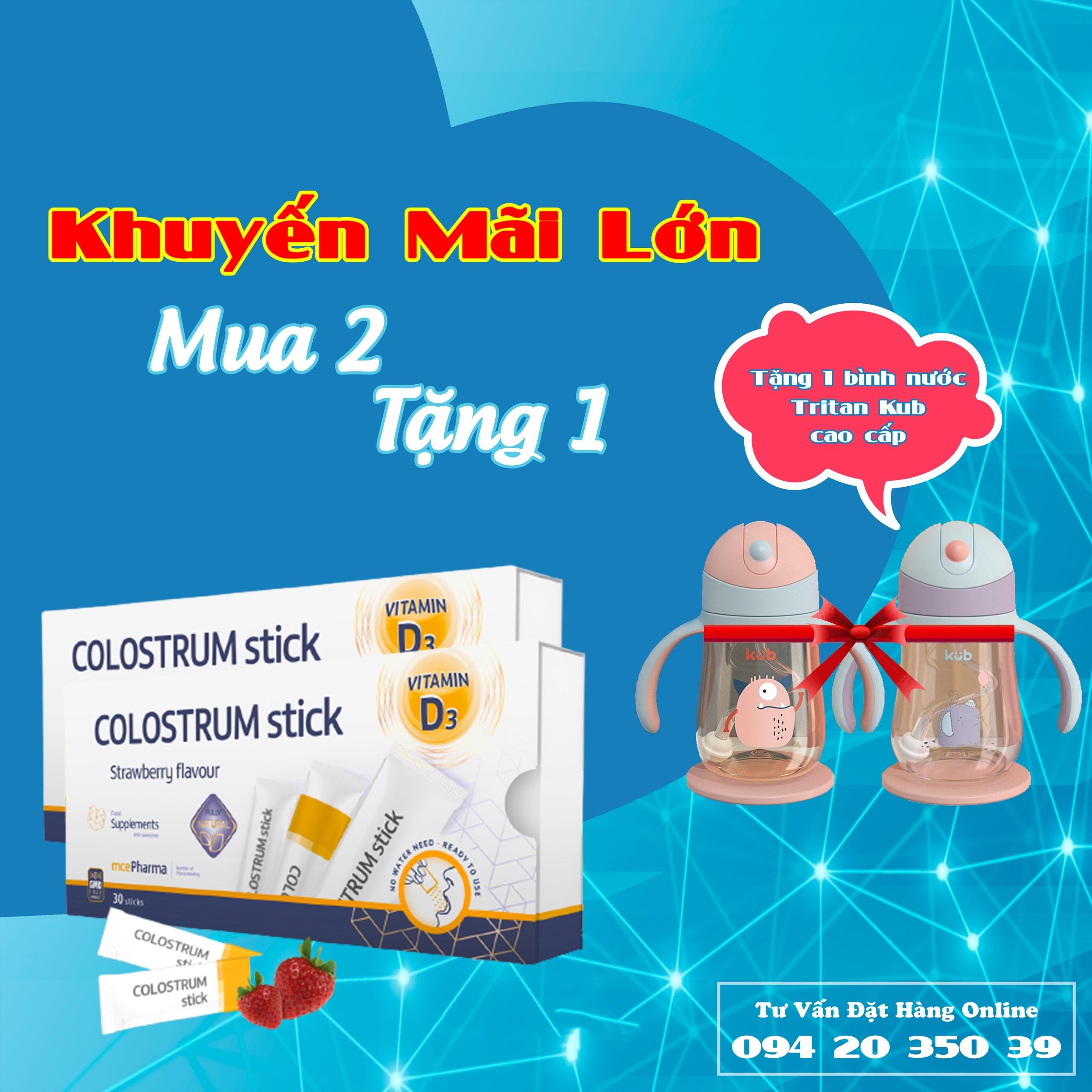 SỮA NON VITAMIN D3 tăng cường miễn dịch - COLOSTRUM STICK VITAMIN D3 - GMO FREE - 30 gói/hộp