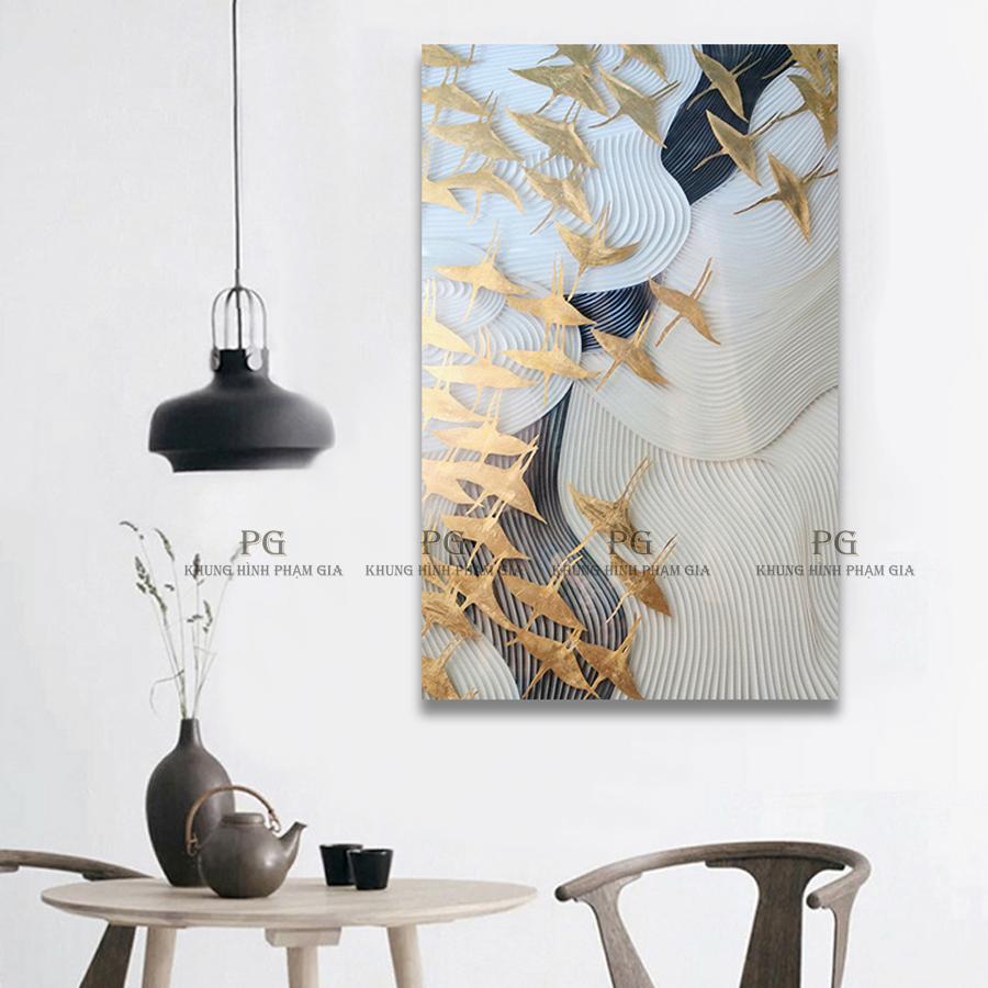 Tranh Canvas Đơn Nghệ Thuật Tranh Treo Phòng Khách Và Phòng Làm Việc - Khung Hình Phạm Gia PGKL854