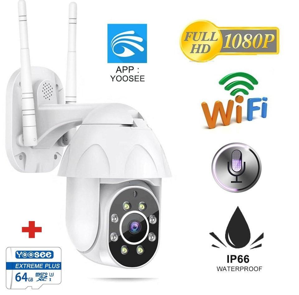 (Tặng kèm thẻ nhớ chuẩn 64gb BH 24 tháng dùng thử miễn phí 14 ngày ) Camera Ngoài Trời-Trong nhà YooSee PTZ,XEM ĐÊM CÓ MÀU , xoay 360 độ, đàm thoại 2 chiều, chống nước, lưu trữ video - NEW