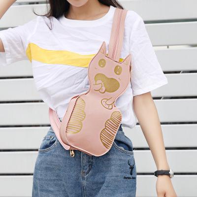 Hình ảnh (Có video)Túi xách nữ đeo chéo ulzzang đeo hông đeo ngực kiêm balo Túi đựng ĐTDĐ Mini Bag hình mèo ngộ nghĩnh nhiều màu tiện dụng. Bóp ví dự tiệc(TT2229)
