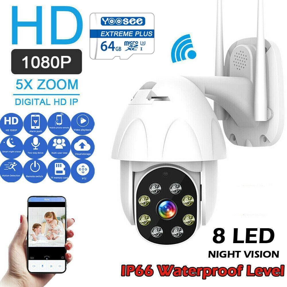 (Tặng thẻ nhớ YOOSEE chuẩn 64GB)Camera ip wifi ngoài trời-trong nhà PTZ 2.0 Mpx- 1920 x1080,Xoay 360 độ, XEM ĐÊM CÓ MÀU,Ghi âm, đàm thoại 2 chiều, lưu trữ video