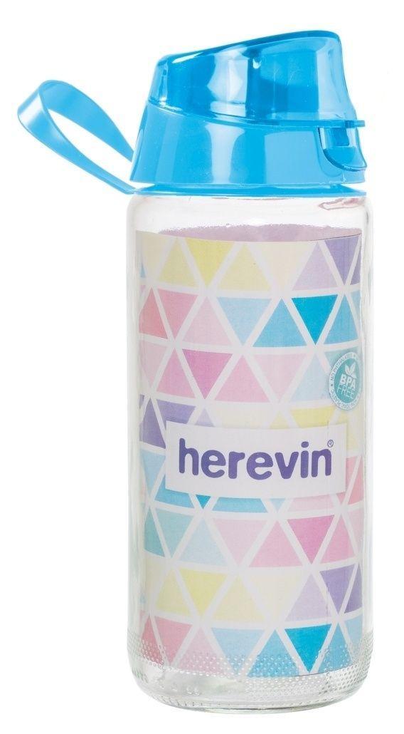 Bình Nước Thể Thao Thủy Tinh Herevin 500ml - 111804 (Màu ngẫu nhiên)