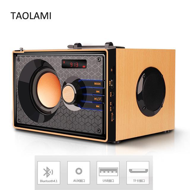 Loa Bluetooth Mua Ngay Loa Không Dây A200 Siêu Trầm Loa Ngoài Trời Mp3 Trình Phát Nhạc Hỗ Trợ Điều Khiển Từ Xa FM TF AUX USB MP3 Thiết Kế Thùng Vân Gỗ Với 1 Loa Bass Kết Hợp 2 Loa Treble Công Nghệ Bluetooth 4.0 Hàng Mới full 100%.
