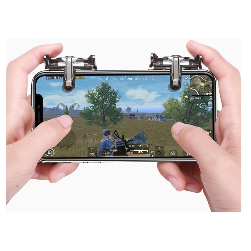 Bộ 2 Nút Bấm Cơ K10 Hỗ Trợ Chơi Game PUBG Mobile Ros Mobile 1