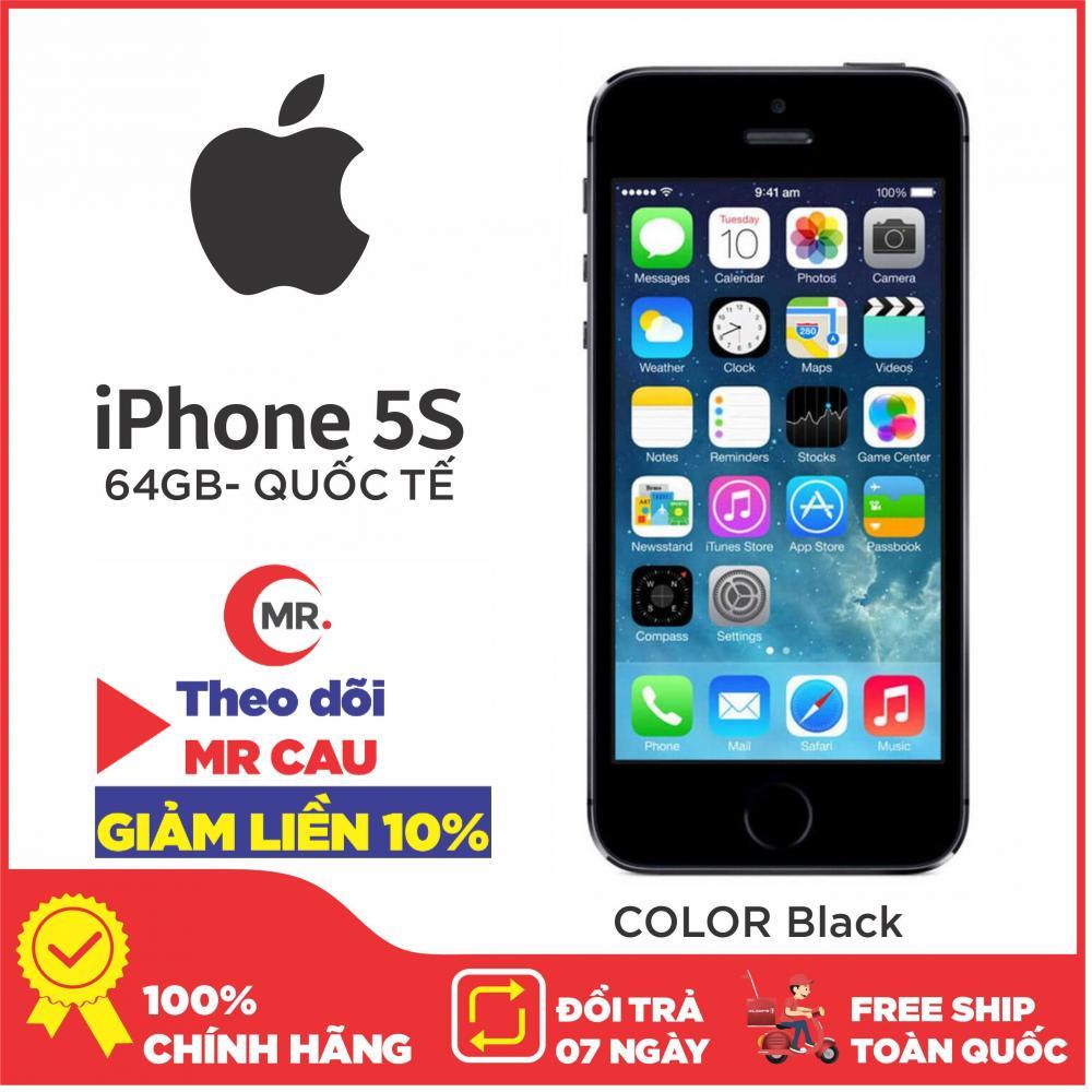 Điện thoại Apple iPhone 5s - 64GB - Bản quốc tế - Full phụ kiện - Bảo hành 6 tháng - Đổi trả miễn phí tại nhà - Yên tâm mua sắm với Mr Cầu ( Điện Thoại Giá Rẻ, Điện Thoại Smartphone, Điện Thoại Thông Minh, Điện thoại phổ thông cảm ứng)