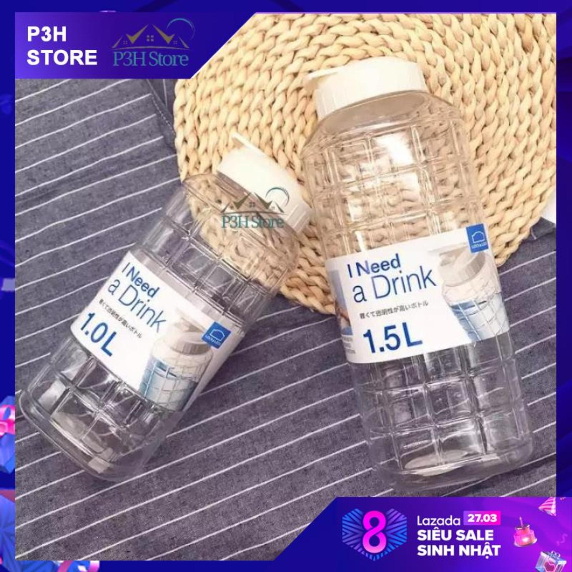 Bình nhựa đựng nước Lock&Lock Chess Water Bottle màu trắng dung tích 1L/1.5L