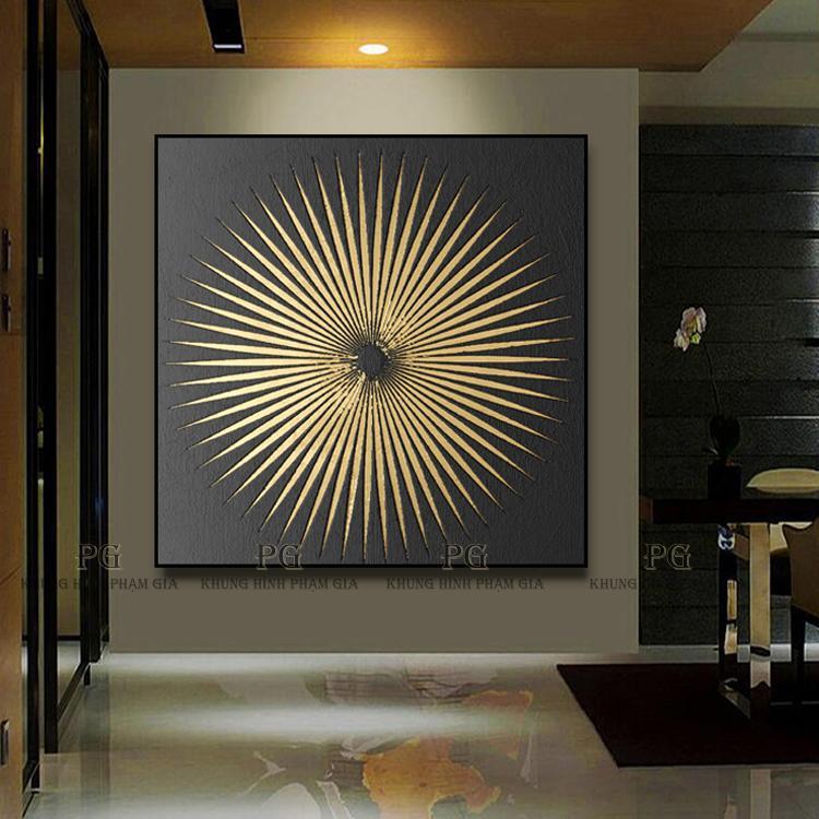 Tranh Canvas Đơn Nghệ Thuật Tranh Treo Phòng Khách Và Phòng Ăn - Khung Hình Phạm Gia PGKL1084