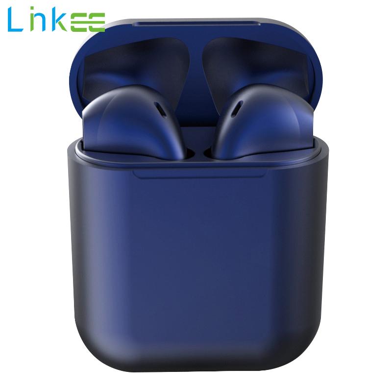 Tai Nghe Bluetooth Macaron InPods 12 Tai Nghe Không Dây Nhét Tai Stereo Cảm Ứng Thông Minh Có Hộp Sạc Cho Android Huawei Xiaomi Samsung OPPO Vivo I12 Màu Kim Loại Mới