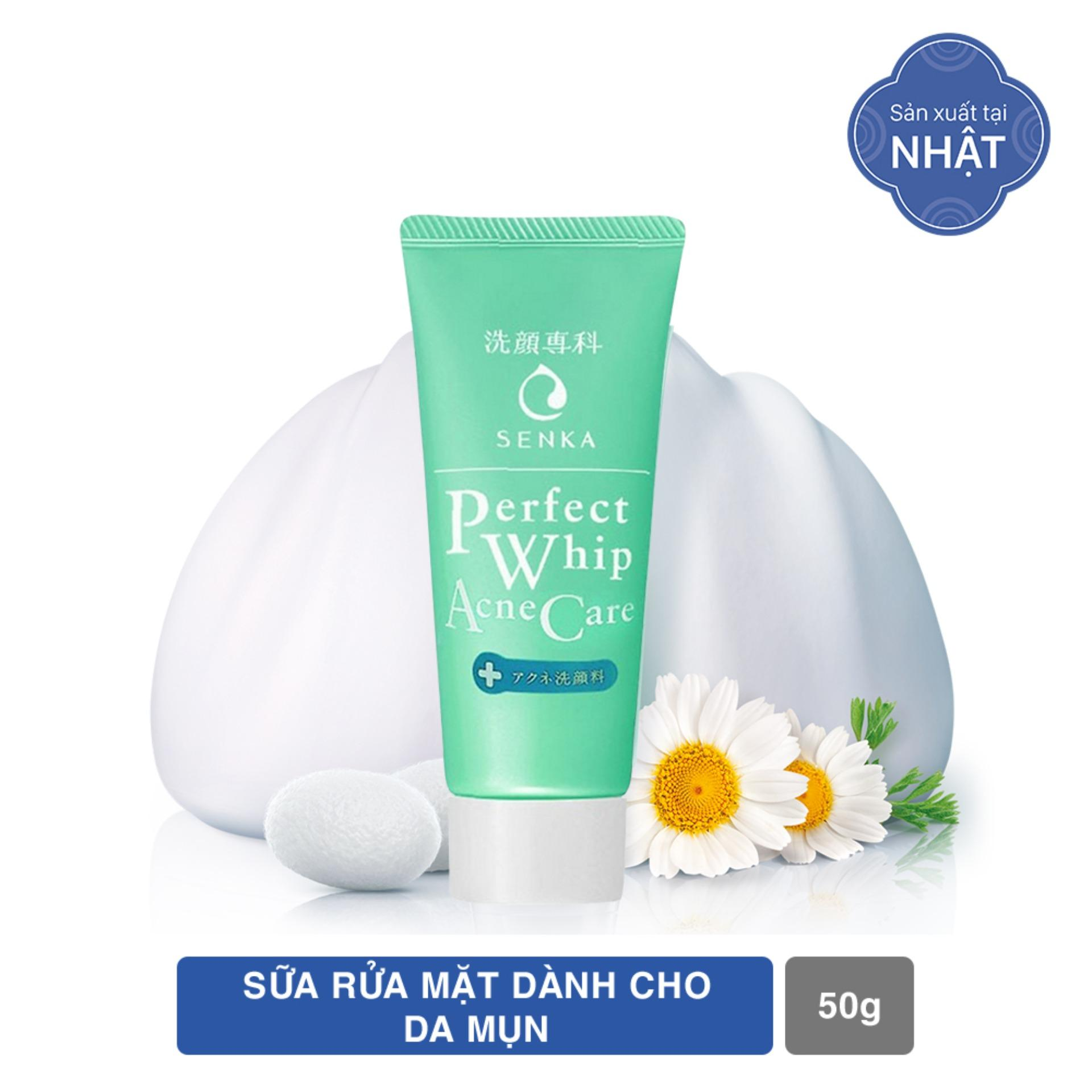 Sữa Rửa Mặt Senka Dành Cho Da Mụn 50g Perfect Whip Acne Care