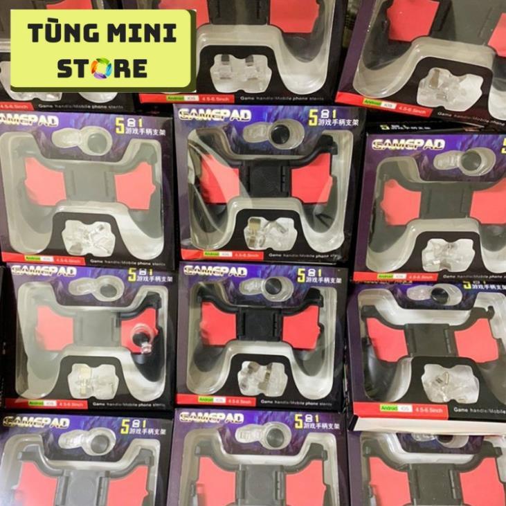 Tay Cầm Chơi Game PUBG, Liên Quân 5 in 1 Dùng Cho Điện Thoại 4.5 - 6.5 inch 4