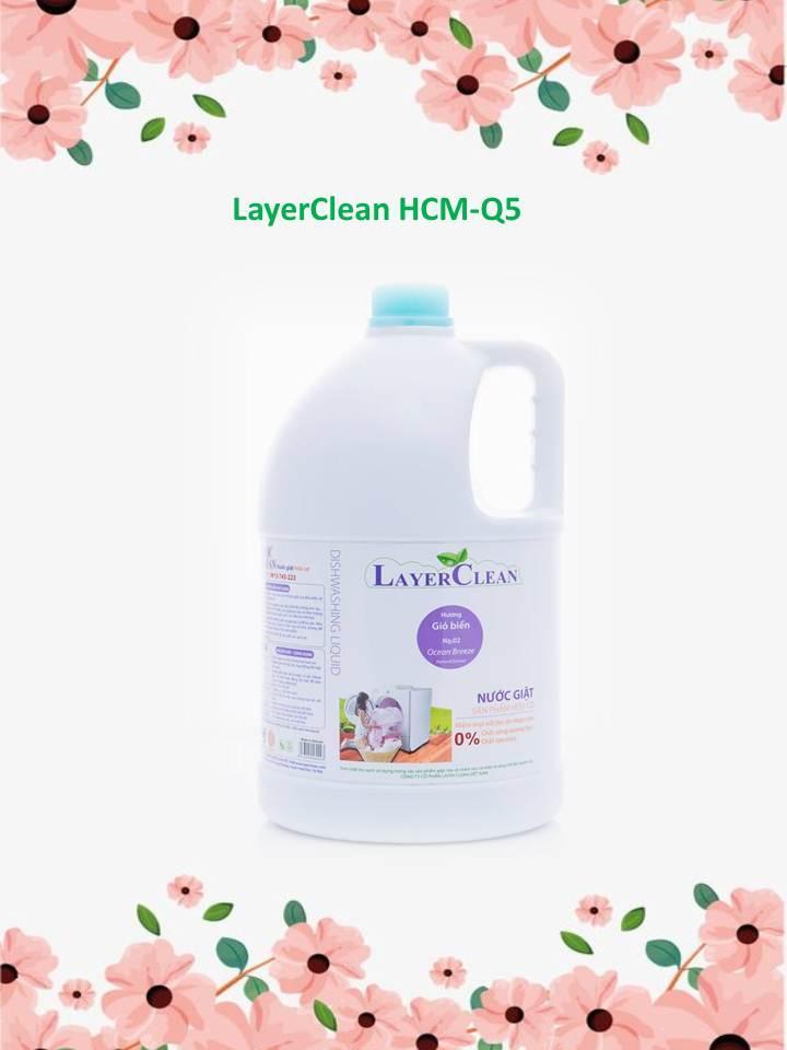 Nước giặt hữu cơ LayerClean 5 lít - Hương Gió Biển