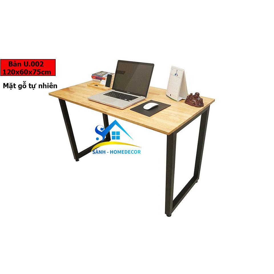 Bàn làm việc gỗ tự nhiên , bàn học, bàn gaming , ban lam viec, ban hoc, ban gming, bàn chân U chất lượng cao U002