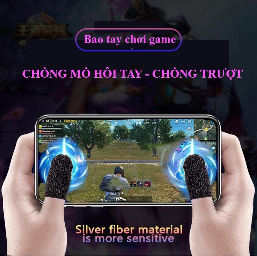 [MẪU MỚI] Bộ bao 2 ngón tay chuyên dụng chơi game mobile chống ra mồ hôi tay, chất liệu sợi carbon thoáng mát, cảm ứng cực nhạy, độ co giãn cao 1