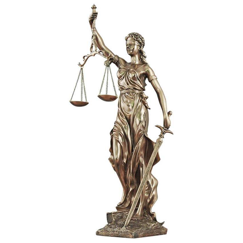 Hình ảnh Tượng nữ thần công lý cao cấp - Tượng trang trí decor Nữ thần công lý đẹp trang trí nhà cửa, trang trí phòng khách, trang trí không gian nội thất-DecorShop