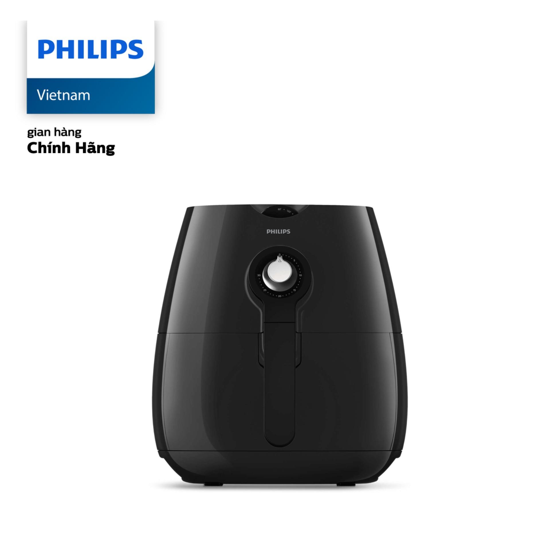 Nồi chiên không dầu Philips HD9218 1425W (Đen) - Hãng phân phối chính thức