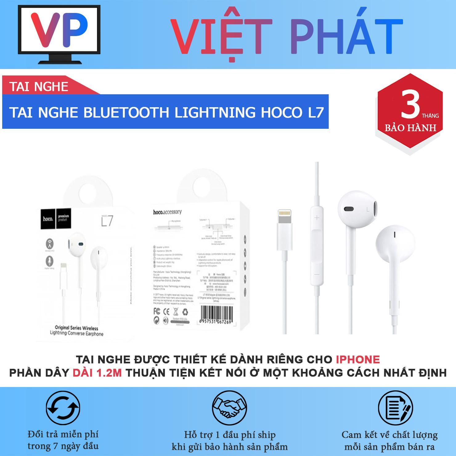 TAI NGHE NHÉT TAI BLUETOOTH LIGHTNING CHO IPHONE HOCO L7