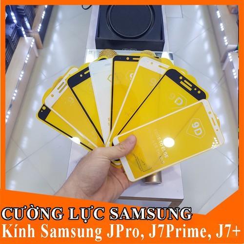 [HCM]Kính Cường Lực Full SamSung J7 Prime - J7 pro/ J730 - J7 Plus/ J7+ (tặng giấy lau) 9D