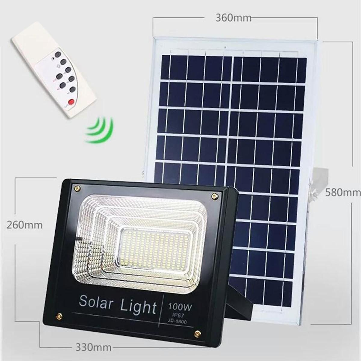 Đèn LED pha năng lượng mặt trời JD 8800 - 100W
