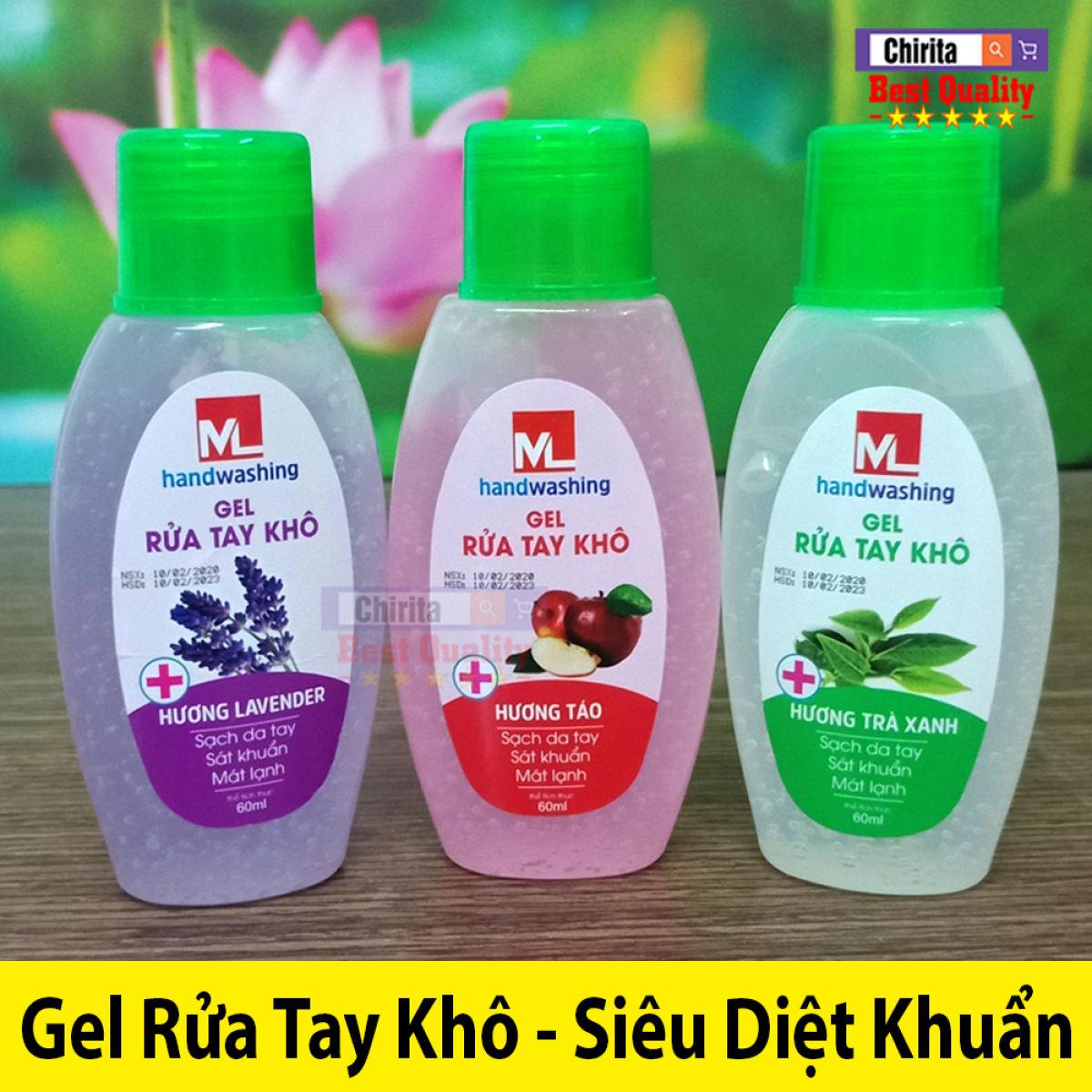 Gel Rửa Tay Khô Handwashing - Xịt Rửa Tay Kháng Khuẩn - Sạch Tay An Toàn 60ML