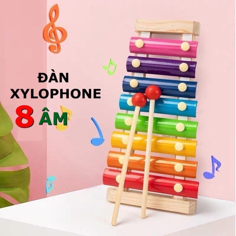 Đồ Chơi Trẻ Em Đàn Xylophone 8 Âm Bằng Gỗ Phát Triển Trí Não Và Cảm Quan Cho Bé Gái Và Trai Từ 1 Tuổi Trở Lên. 1