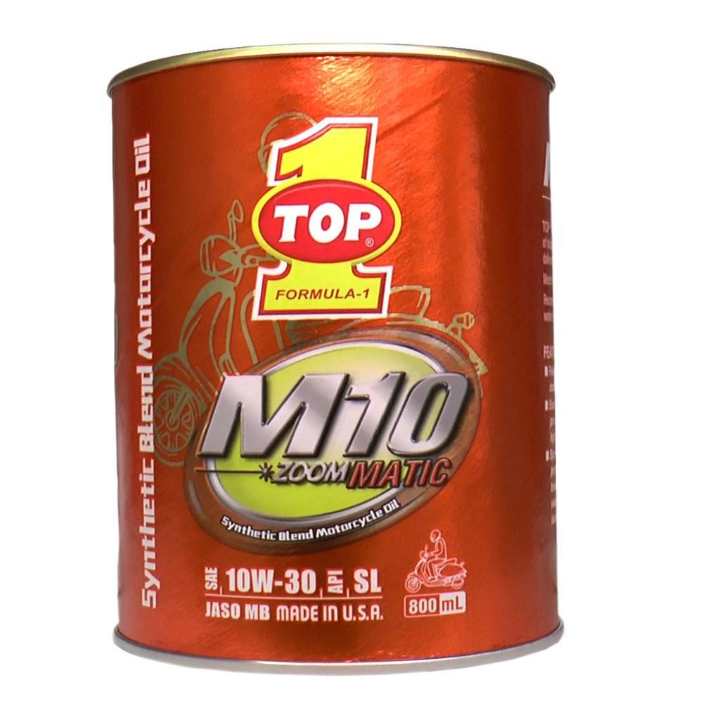 Nhớt Top 1 M10 Matic 10W30 0.8L cho xe ga - Mẫu mới Nhập USA
