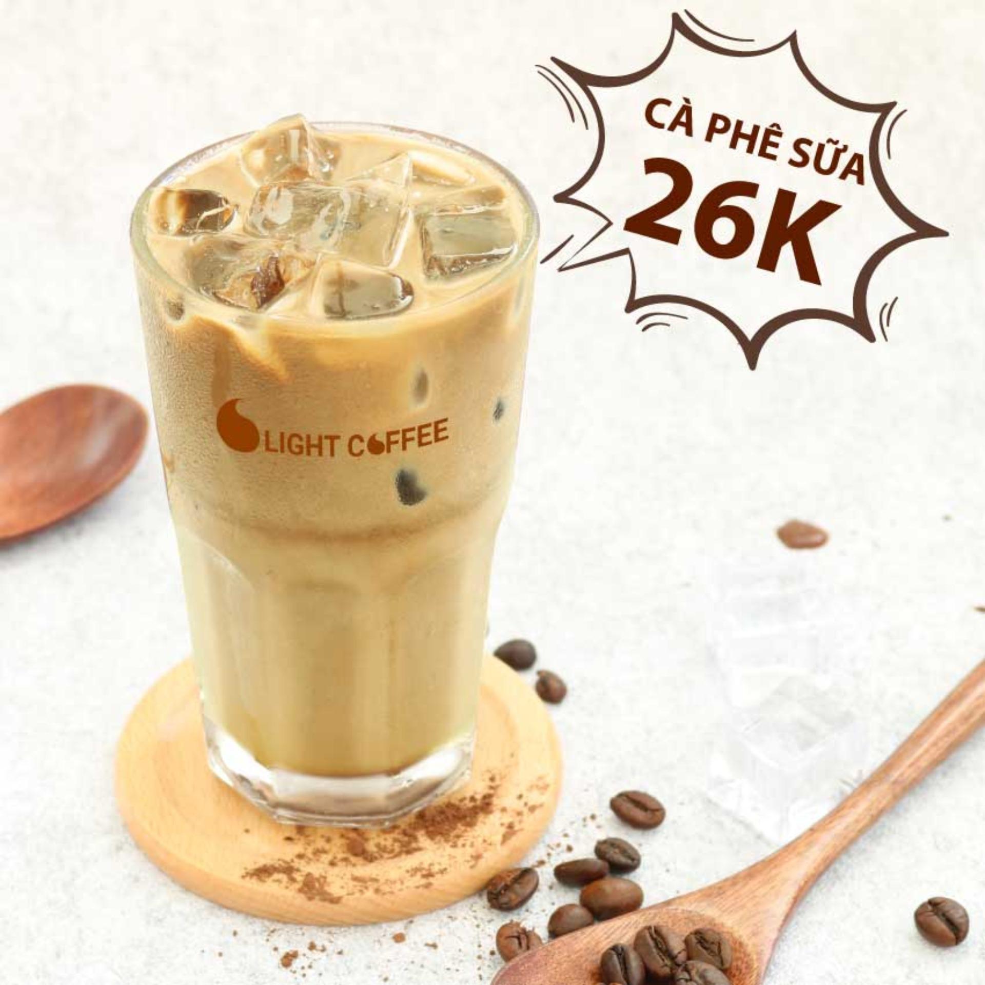 HCM - Evoucher Tặng ly cà phê sữa trị giá 26k tại quán Light Coffee - Cà phê nguyên chất đá tinh khiết