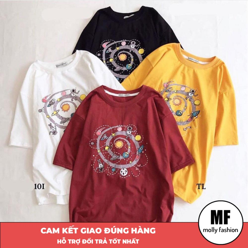 Áo phông, áo thun nam nữ form rộng tay lỡ Unisex giấu quần Ngân hà Freesize dưới 70kg (1m75) Molly Fashion MS015