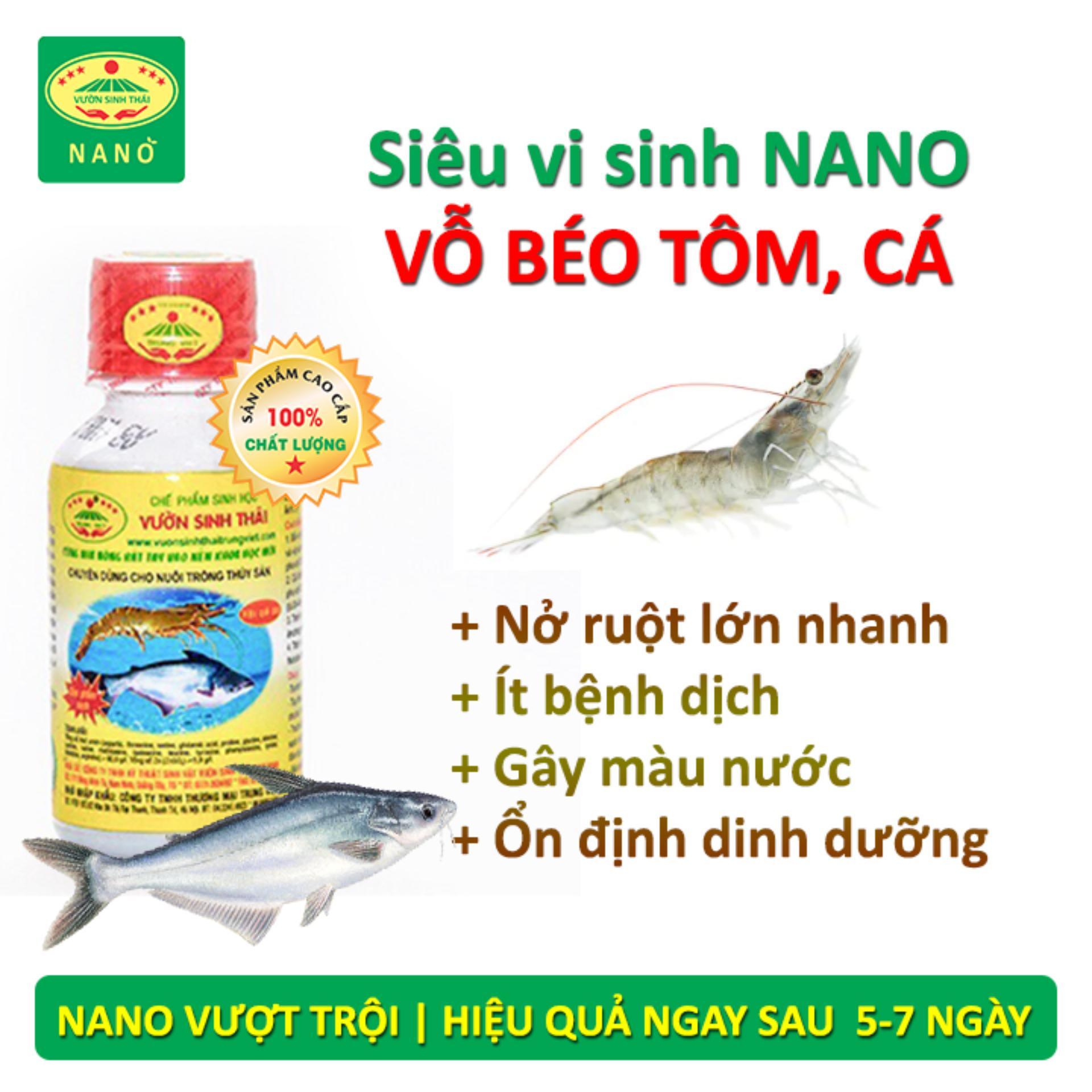 Hình ảnh Chế phẩm sinh học Vườn Sinh Thái dùng cho Thủy Sản - Thức ăn bổ sung cho Cá, Tôm - Vỗ béo, nở ruột, chắc thịt lớn nhanh - Siêu vi sinh NANO hiệu quả vượt trội - 100% từ Thiên Nhiên