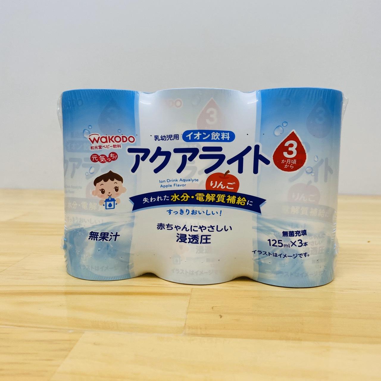 Nước ép Wakodo táo sữa chua Block 3 hộp 125ml