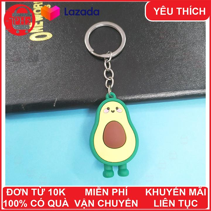 Hình ảnh Móc khóa hình trái bơ đáng yêu ✓ móc khóa cute ✓ móc khóa xe dễ thương ✓ móc chìa khóa xe, túi sách, balo đều hợp ✓móc khóa cặp đi học✓ Phát Huy Hoàng
