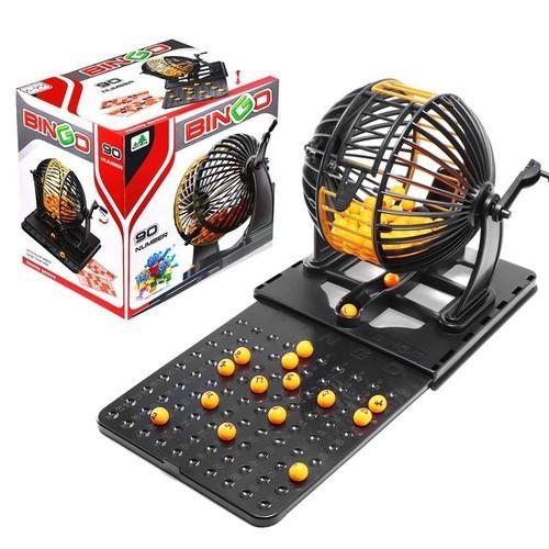 Bộ lô tô lồng sắt quay số bingo 75 number (loại nhỏ) Thái Lan - Lồng quay  lô tô - Trò chơi xổ số Bingo Loto | Lazada.vn