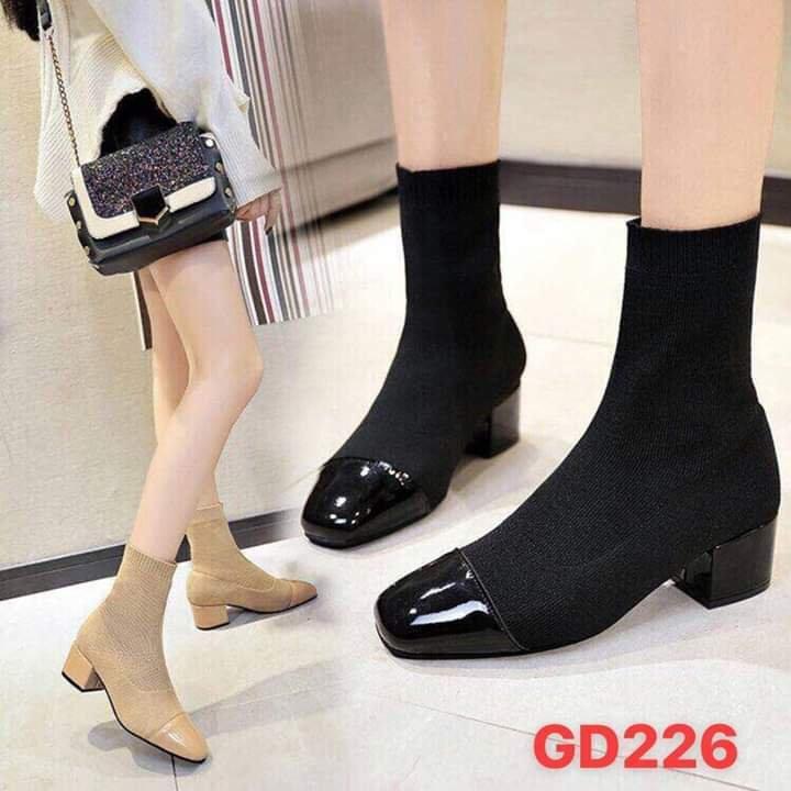 Giày boots nữ thời trang cổ chun ôm chân hàng siêu hót