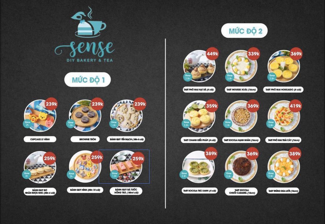 [HCM] SENSE DIY BAKERY&TEA - Voucher Bánh Tự Làm Mua 1 Tặng 1