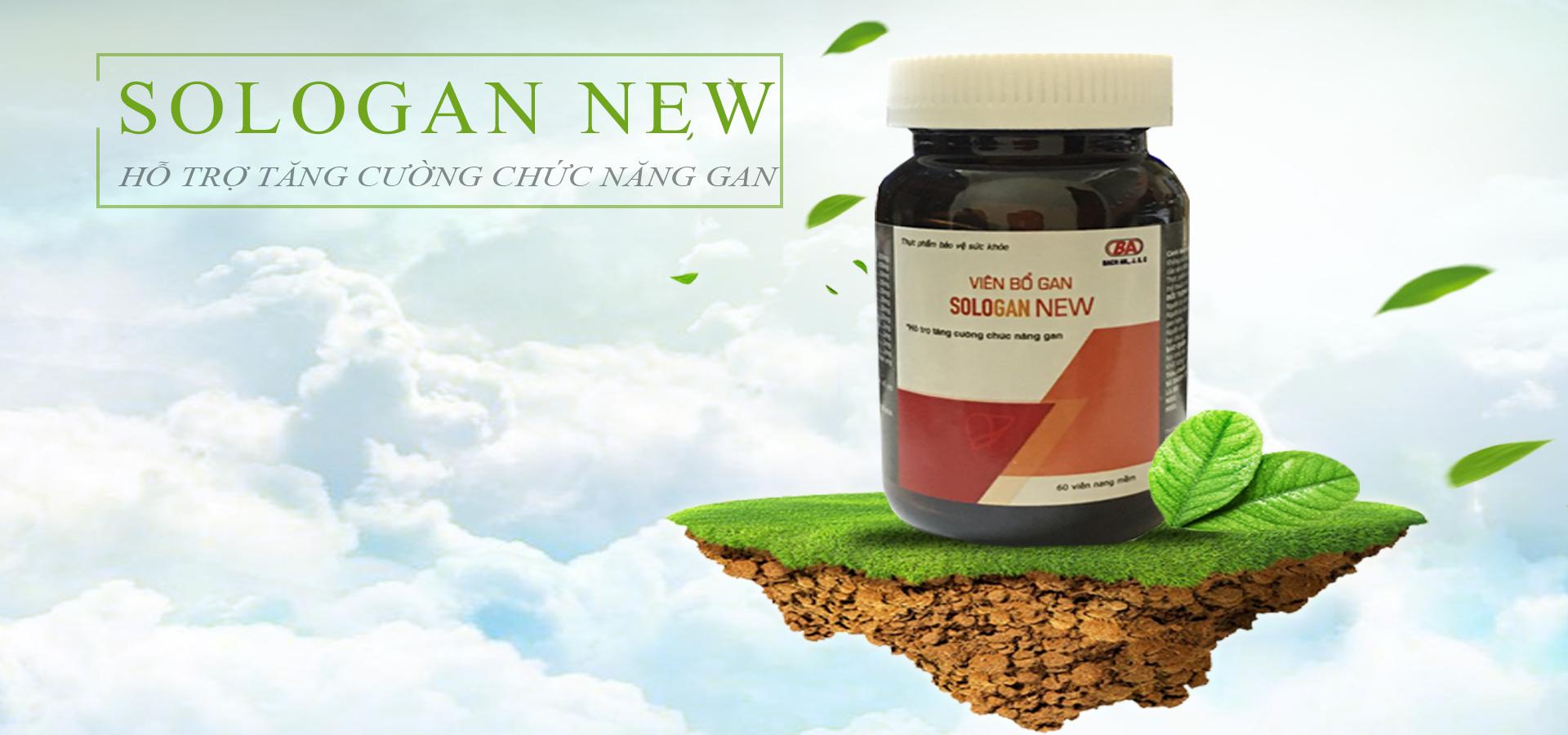 Viên Bổ Gan Sologan New (Hộp 60 Viên) - Sản phẩm của người Việt - cho người Việt. Hỗ trợ giải độc gan - Tăng cường chức năng gan 1