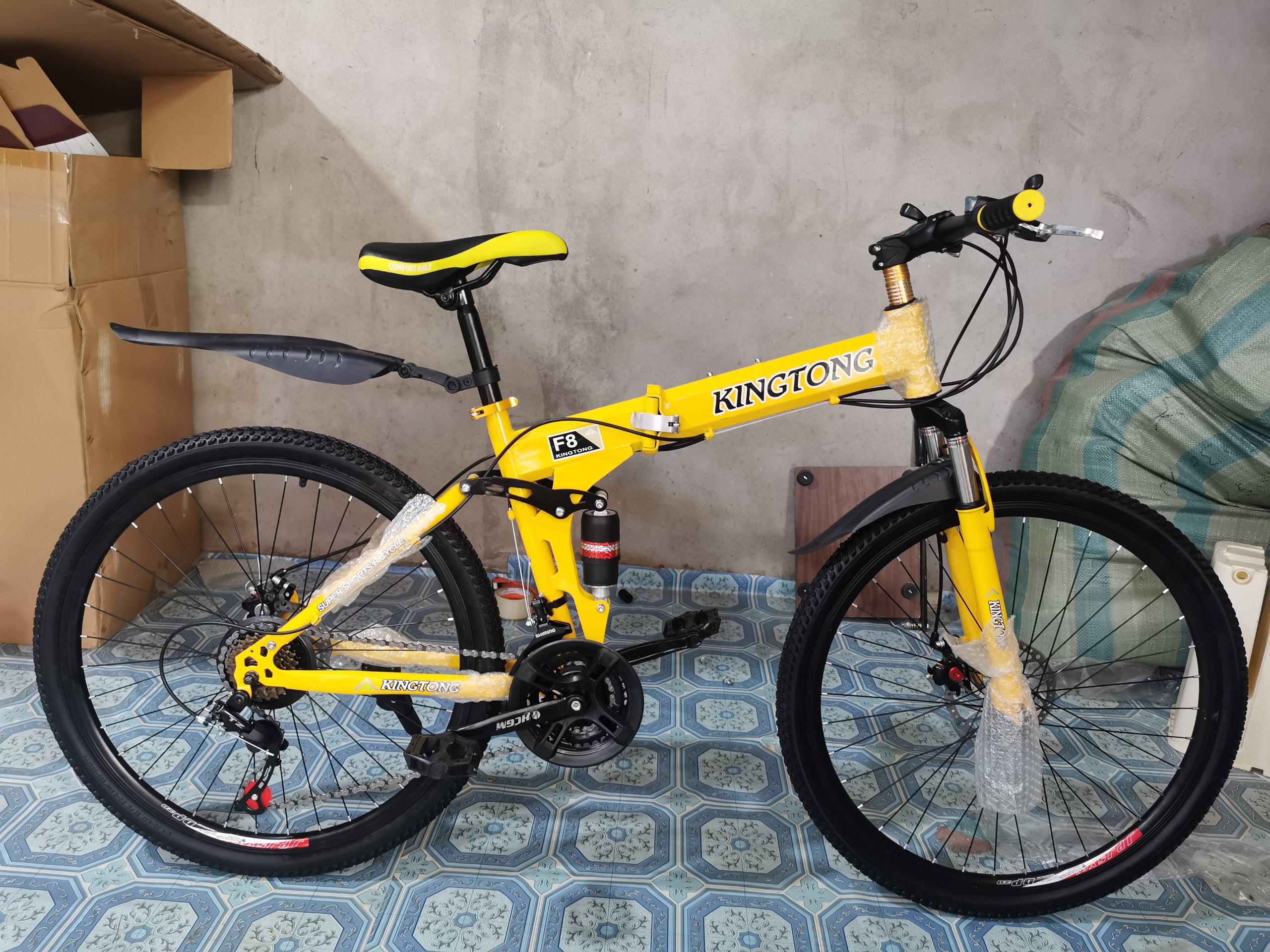 Xe đạp thể thao địa hình gấp gọn HaHoo [Bảo hành 12 tháng] (3 màu đen vàng  cam) | Lazada.vn