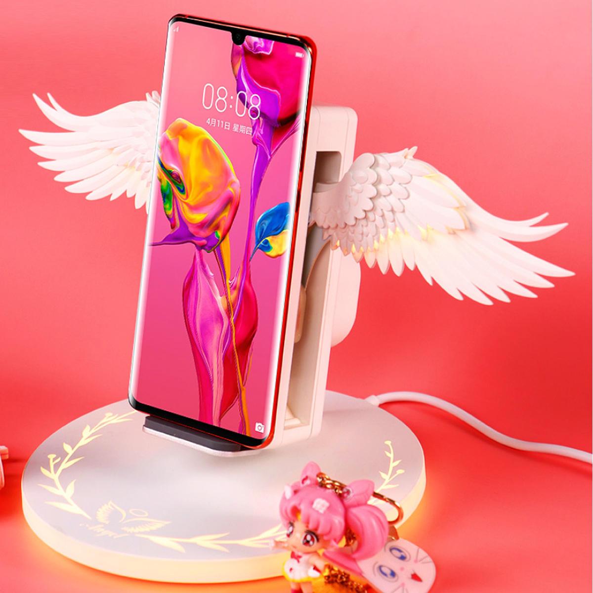 (Bảo hành 12 tháng)Sạc không dây hỗ trợ sạc nhanh 10W ANGEL- sạc thiên thần  hỗ trợ tất cả các sản phẩm có sạc không dây sạc không dây iphone  sạc không dây samsung  sạc không dây xiaomi  sạc không dây oppo