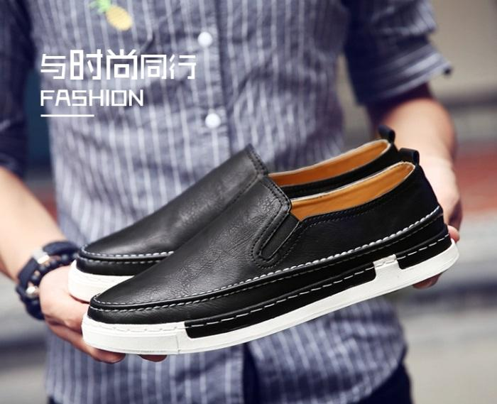 ✅ Giày SLIP ON DA G17 ( ĐEN ) Thể Thao/Giày Nam hiện đại , cá tính, đẹp độc lạ, chất thoáng mát, phong cách Hàn Quốc mẫu mới nhất 2019 - TỔNG KHO GIẦY NHẬP KHẨU