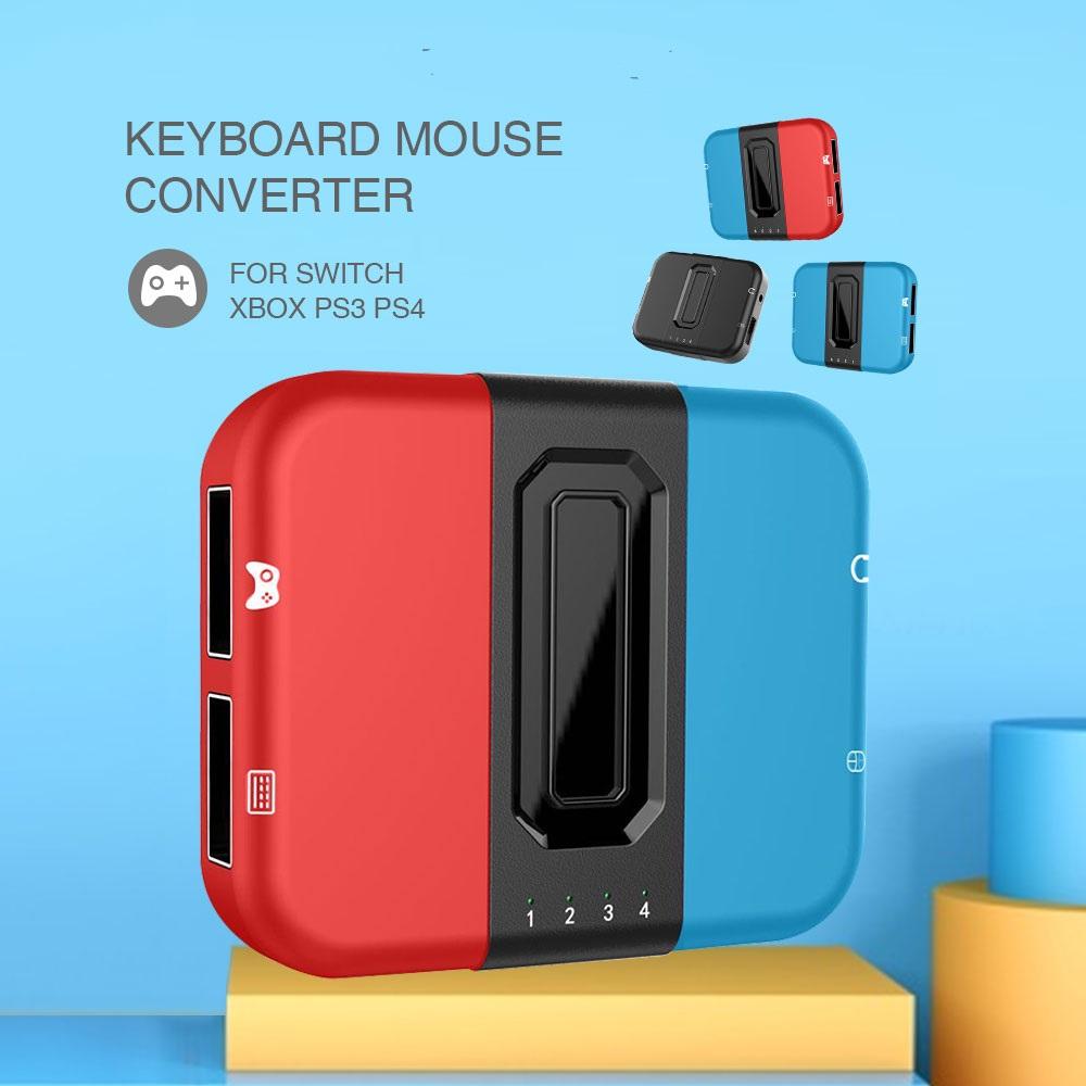 Hình ảnh YOU ONE Bộ chuyển đổi bàn phím và chuột chơi game Bộ chuyển đổi USB trò chơi cho PS4 / PS3 / Xbox One / Nintendo Switch Hỗ trợ bàn phím và chuột chơi game không dây có tai nghe