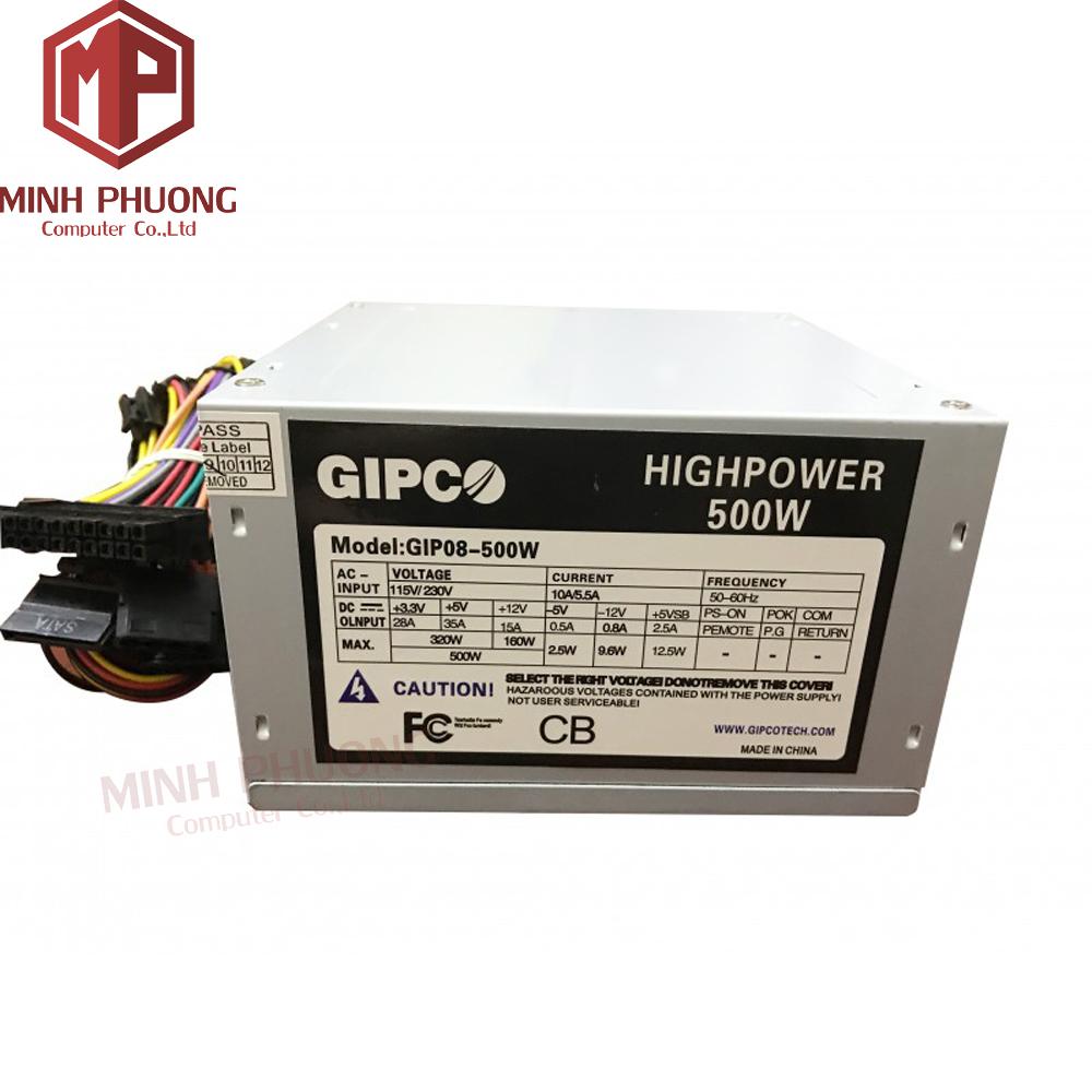 Nguồn điện GIPCO 500W Fan 8 cm