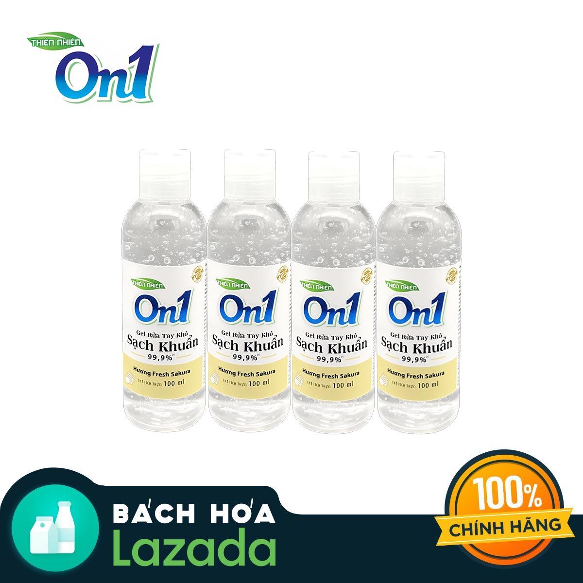 Combo 4 chai gel rửa tay khô ON1 hương Fresh Sakura 100ml