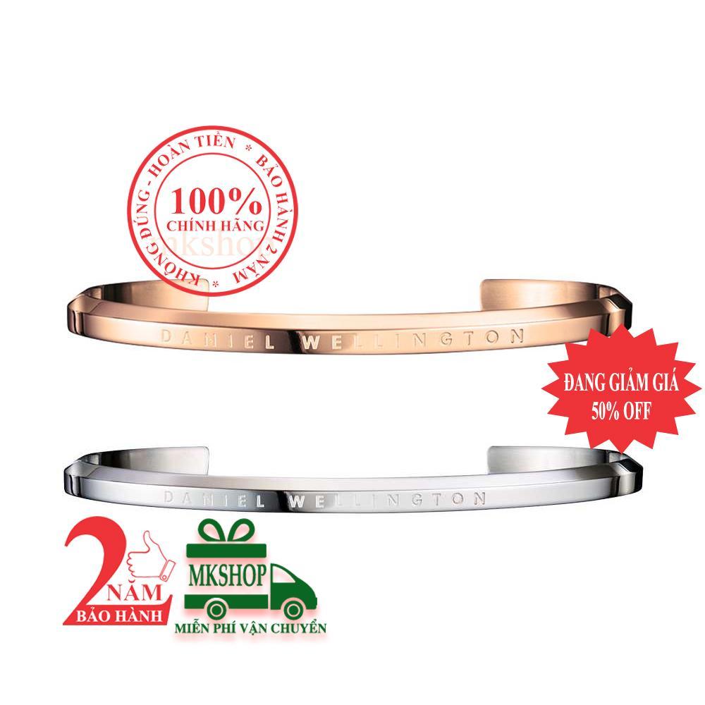 Bộ sản phẩm 2 vòng tay DanieI Wellington Classic, màu Vàng hồng (Rose Gold) + màu Bạc (Silver), size S