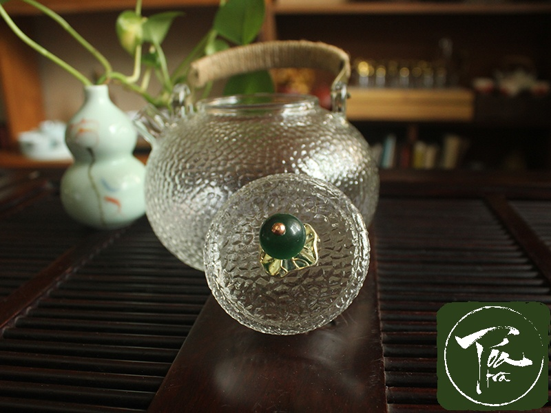 Tỏa Trà - Ấm thủy tinh hoa vân nhám kiểu Nhật cao cấp - Ấm thủy tinh vân nhám